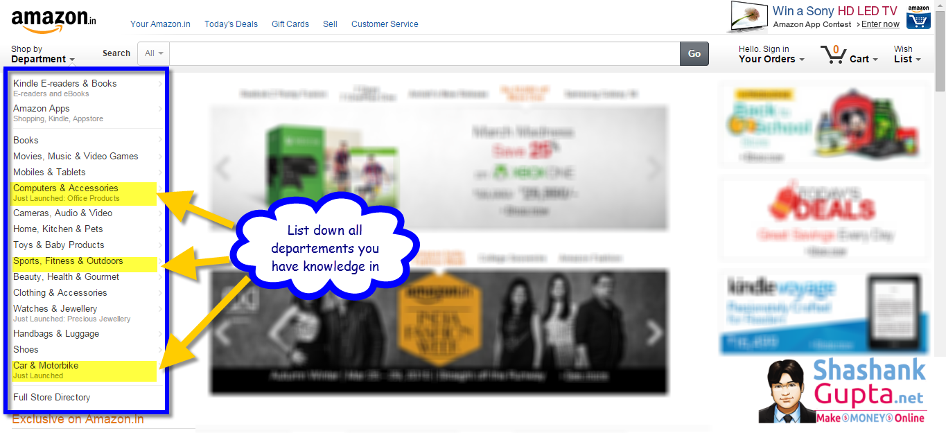 How to find Niche for Amazon Affiliate 1