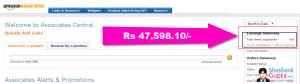 amzon india affiliates earning proof