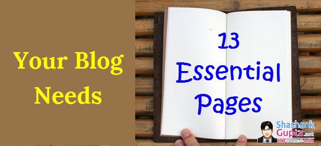 Basic Pages for every blog - Part 8 of How to Make your own Blog
