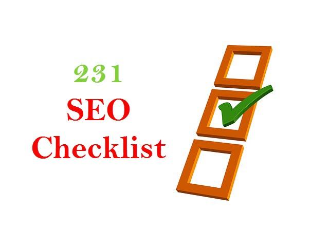 231 SEO Checklist